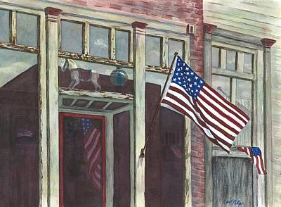 Horse Painting - Main Street Usa by Rosie Phillips
