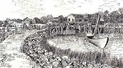 Seacoast Drawing - Maine by Jimmy McAlister