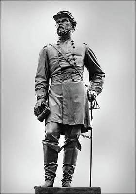 Major General John Reynolds Statue At Gettysburg Print by Randy Steele