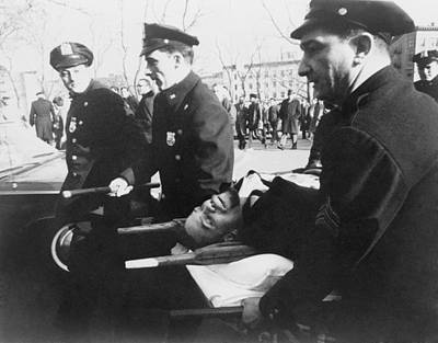 Extremist Photograph - Malcolm X 1925-1965, On Stretcher by Everett