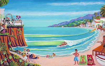 Malibu Painting - Malibu Shoes Optional by Frank Strasser