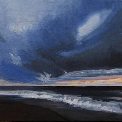 Malibu Sunset Print by Cristin Paige