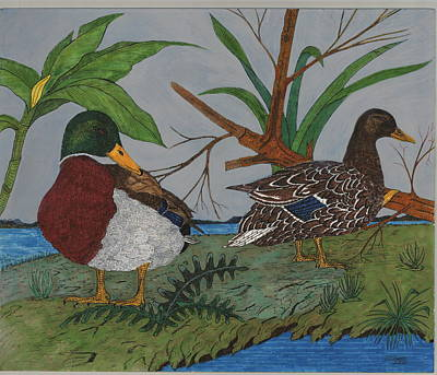 Mallards Print by Tommy Combs
