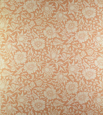 Nature Tapestries - Textiles Tapestry - Textile - Mallow Wallpaper Design by William Morris