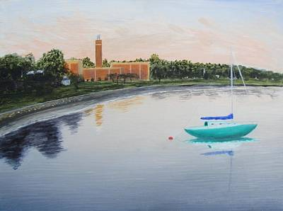 Boat Painting - Mamaroneck Harbor Island by Larry Cirigliano