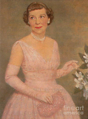 Mamie Eisenhower Print by Photo Researchers