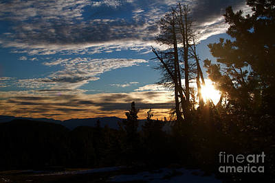 Mammoth Mountain California At Sunrise Print by ELITE IMAGE photography By Chad McDermott