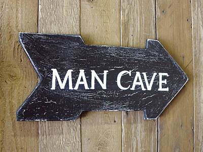 Y120907 Photograph - Man Cave Sign by Geri Lavrov