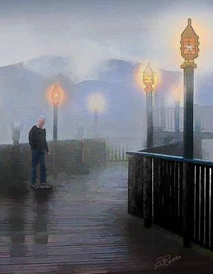 Man In A Fog Print by Suni Roveto