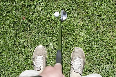 Men Shoe Photograph - Man Playing Golf by Mats Silvan