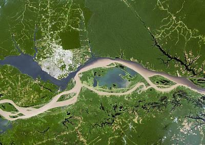 Manaus, Satellite Image Print by Planetobserver