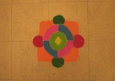 Mandal Painting - Mandal Rangoli by Sonali Gangane