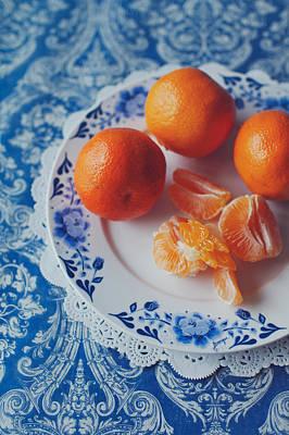 Mandarines / Tangerines Print by Julia Davila-Lampe
