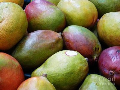 Mango Digital Art - Mangoes by Methune Hively