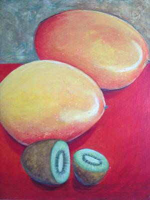 Mangos And Kiwi Print by Anne Marie Smith