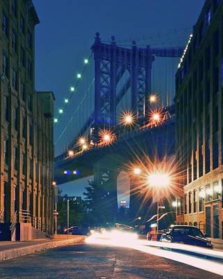 Built Structure Photograph - Manhattan Bridge by Thomas Kurmeier