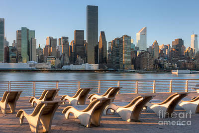 Manhattan Skyline From Gantry Plaza State Park Print by Clarence Holmes