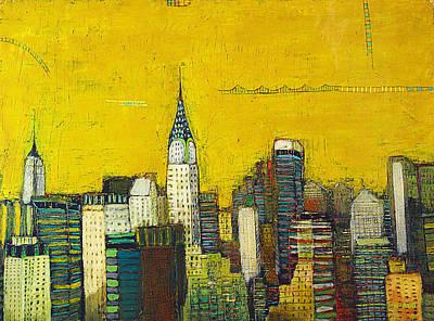 Manhattan With Chrysler And Empie Print by Habib Ayat