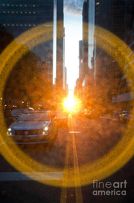 Manhattanhenge New York Print by Design Remix