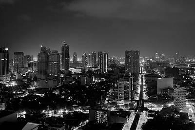 Manila Skyline Print by Arj Munoz