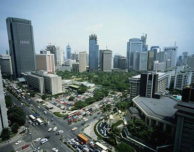 Manila Skyline Print by John Wang