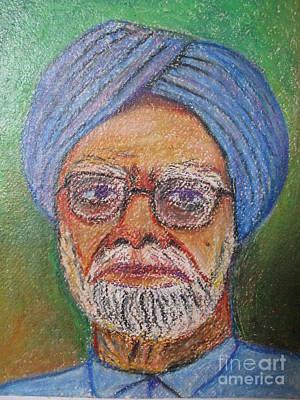 Manmohan Singh Print by Nedunseralathan R