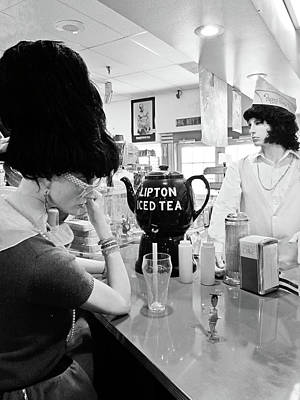 Peggy Sues Diner Photograph - Mannequins At Peggy Sues 50's Diner by Julie Niemela