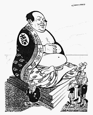 Nikita Photograph - Mao Tse-tung Cartoon, 1958 by Granger