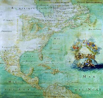 Map Of America  Print by Pg Reproductions
