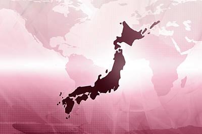 Map Of Japan Print by Maciej Frolow