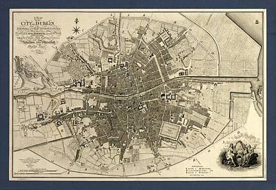 Map Of The City Of Dublin, 1797 Print by Library Of Congress, Geography And Map Division