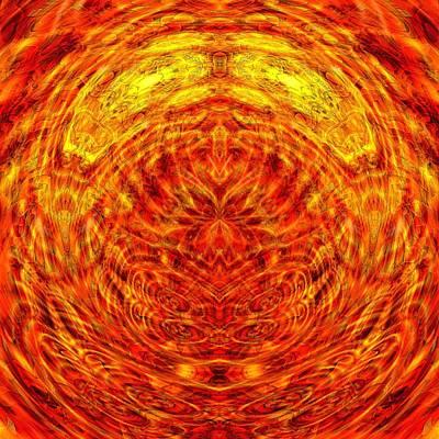Maple Sunset Mandala Print by Richard Jones