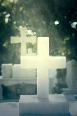 Grave Photograph - Marble Crosses by Joana Kruse