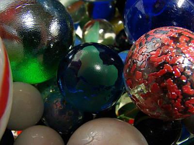 Marbles Around The World Print by K Walker