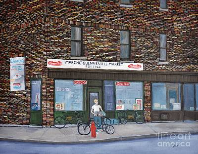 Depanneur Painting - Marche Quenneville Pointe St. Charles by Reb Frost