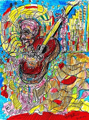 Abstract Drawing - Mariachi by Jon Baldwin  Art