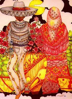 Mariachi Wedding Print by Dede Shamel Davalos