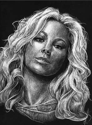 Mariah Carey Print by Michael Trujillo