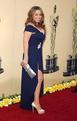 Evening Gown Photograph - Mariah Carey Wearing A Valentino Gown by Everett