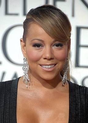 Mariah Carey Wearing Chopard Earrings Print by Everett
