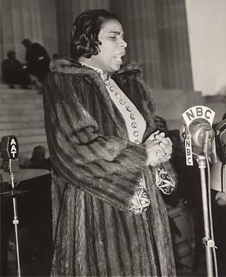 Marian Anderson 1897-1993, At A Nbc Print by Everett