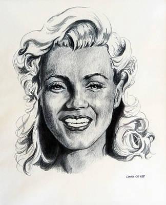 Marilyn Monroe Print by Carmen Del Valle