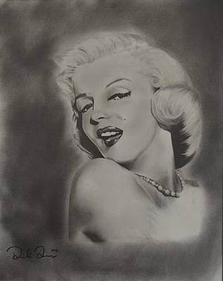 Playboy Drawing - Marilyn Monroe by Daniel Torres