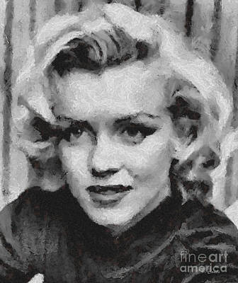 1950s Movies Painting - Marilyn Monroe by Elizabeth Coats