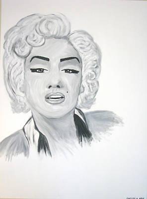 Munroe Painting - Marilyn Munroe by Anastasia May