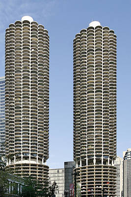 Marina City Chicago - Life In A Corn Cob Print by Christine Till