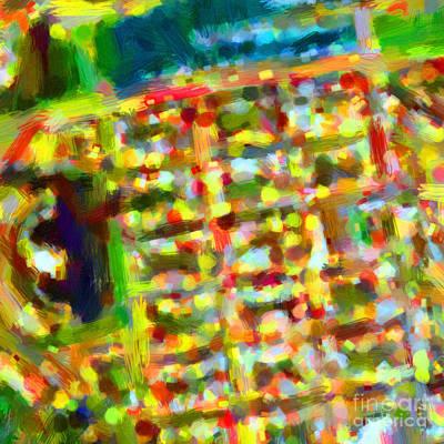 Marina District - San Francisco California Usa - Abstract - Painterly Print by Wingsdomain Art and Photography