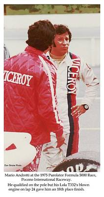 Andretti Photograph - Mario Andretti Is Less Than Pleased by Don Struke