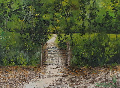 Rawlings Painting - Marjorie's Gate by Larry Whitler