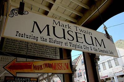 Mark Twian Museum Virginina City Nv Print by LeeAnn McLaneGoetz McLaneGoetzStudioLLCcom